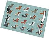 Set di 6 tovagliette con stampa di Cute Dog Collection, facili da pulire, resistenti, antiscivolo, resistenti al calore, resistenti al calore (45,7 x 30,5 cm)
