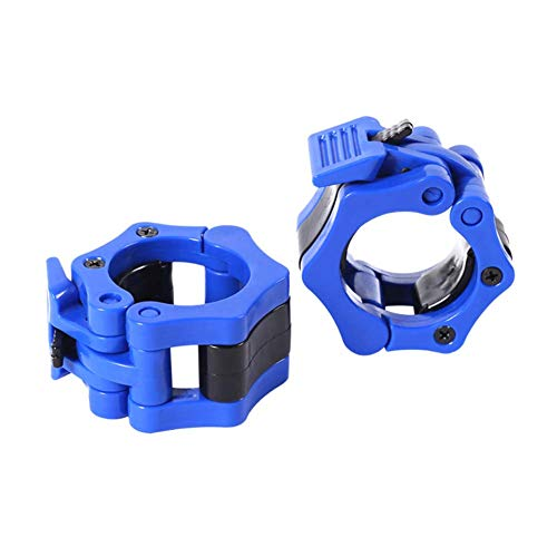 ilmobile Olympic Barbell Clamps, 2 Inch Barbell Clips for Home Gym, 2 Pack Quick Release Barbell Collars Clips for Fitness Training (Blue)