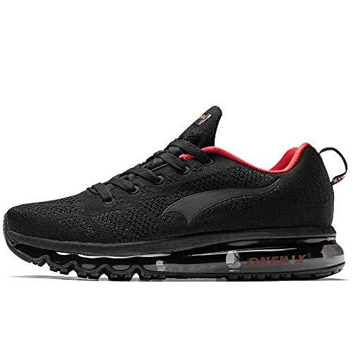 ONEMIX Zapatillas deportivas para hombre y mujer, para correr, caminar., color Negro, talla 45 EU