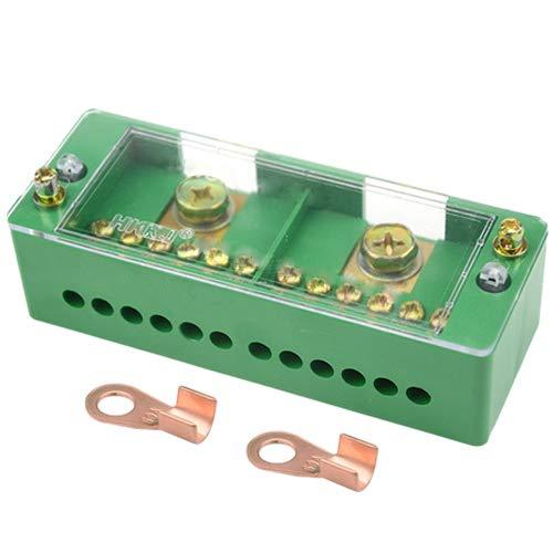 WGCD 660V 30A Monofase 2 Ingressi 8 Outlet Meter Box Giunzione Distribuzione di Alimentazione Morsettiera 2 Inlet 12 Outlet