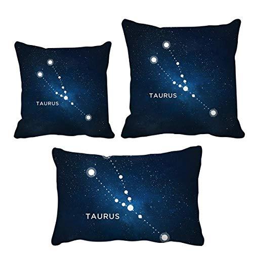 DIYthinker Taurus Sternbild Sternzeichen Kissen Set Kissen Kissen Einband Startseite Sofa Dekor Geschenk