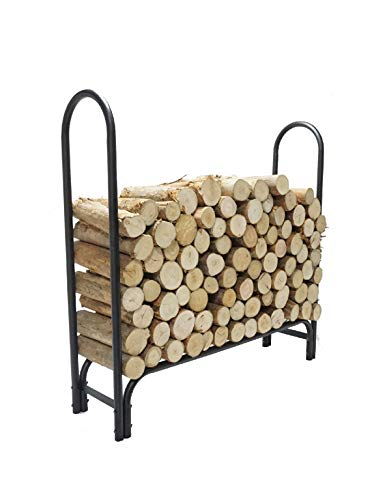 Cheapest Prices! 4 FT Firewood Rack Log Holder, Firewood Holding Rack Indoor, Firewood Storage Holder for Fireplace Patio Outdoor Backyard, Wrought Iron Log Holder
