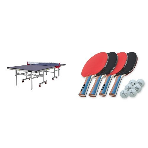 Sale!! Killerspin MyT7 Pocket Table Tennis Table in Blue and JETSET4 Paddle and Ball Set