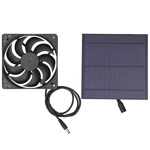 KAKAKE Pannello Solare con Ventola, Ventilatore ad energia Solare per Serra per Il Raffreddamento del canile per Animali Domestici in Serra