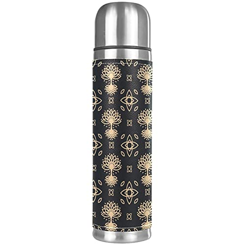 Stainless Steel Vacuum Insulated Mug, Celtic Tree Print Thermos Water Bottle for Hot and Cold Drinks Kids Adults 17 Oz