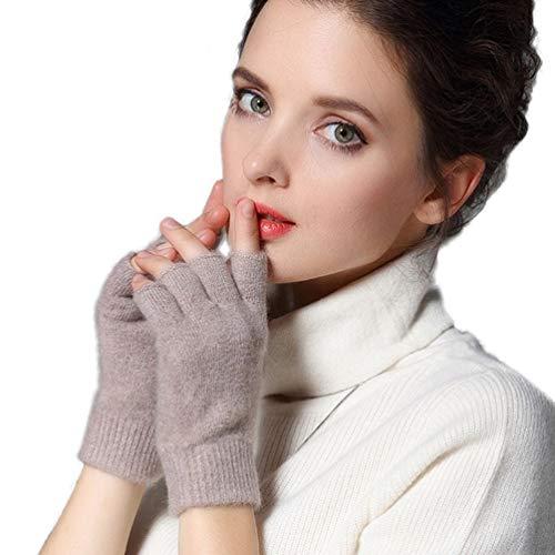 Novawo Cashmere Wool Blend Fingerless Gloves Warm Arm Warmers