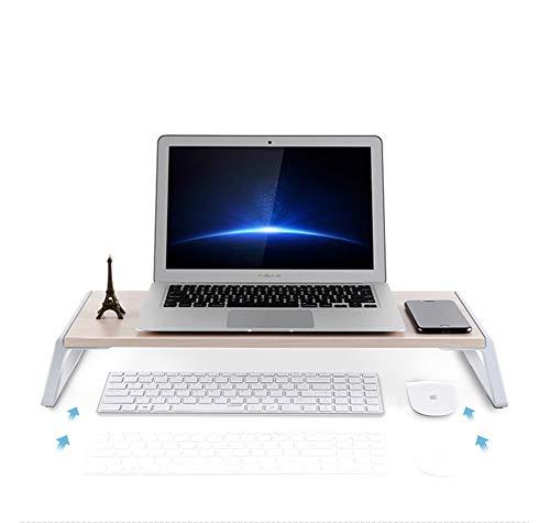 Cleave Waves Monitorstandaard, verticaal platform voor laptop, luidspreker, TV, laptop, verticale bureau-organizer