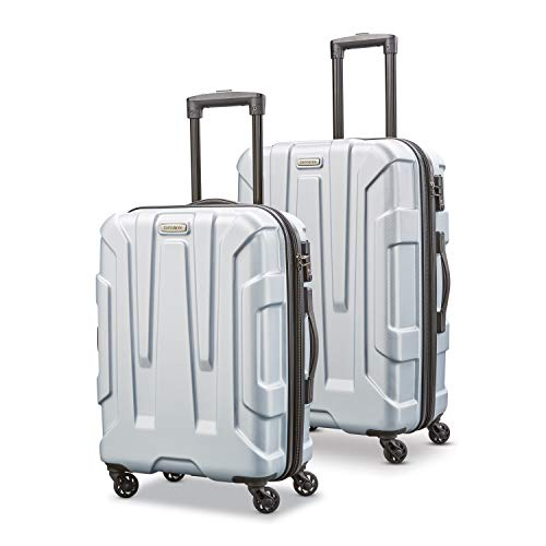 Samsonite Centric Hardside Expandable Luggage with Spinner Wheels, Silver, 2-Piece Set (20/24)