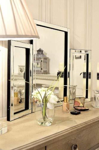 Modern Design Glass Venetian Dressing Table Mirror 1Ft10 X 2Ft7 (54cm X  77cm)