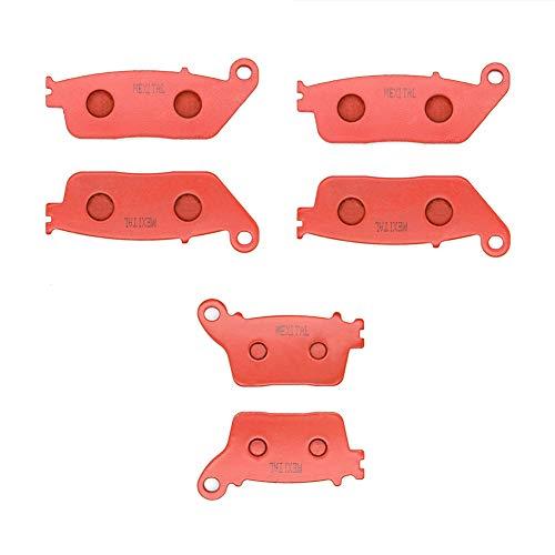 MEXITAL Bremsbeläge Vorne + Hinten für CB 600 F Hornet (F7/F8/F9/FA/FB/FC) (07-13) / CBR 600 F (FB/FC) (11-13)