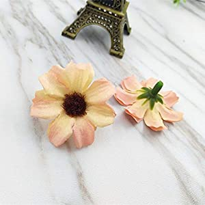 Artificial and Dried Flower 50pcs South Korea Sen Female Small Fresh Seaside Resort Wreath Accessories Simulation Cosmos Flower Hair Band