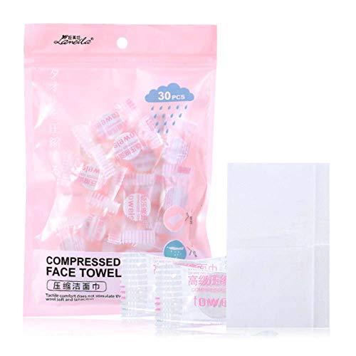 Toallas faciales comprimidas portátiles comprimidas desechables telas no tejidas tejido tejido de moneda comprimido l para viajes/belleza/salón/deportes al aire libre
