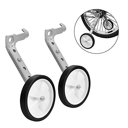 Homee Variable Speed Bike Training Wheels for 14 16 18 20 Inch Children's Bike - White