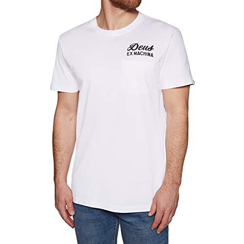 Deus Ex Machina Canggu - Camiseta con bolsillo para dirección, color blanco