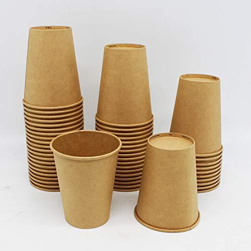 BAMI EINWEGARTKEL | Pappbecher | Kaffeebecher | Einwegbecher | Braun, Pappe Kraftpapier, 12oz. 300ml | BIOLOGISCH ABBAUBAR | 100 Stück