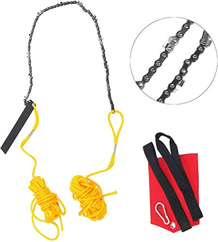 YaeTek Rope Chain Saw - 24 Inch High Reach Limb Hand Chain Saw - With Blade Sharpener, Ropes, Throwing Weight Pouch Bag (24 Inch)