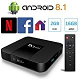 Android 8.1 TV Box Smart TV Box Media Player 2GB 16GB TX3 Mini Support USB 3.0 2.4GHz WiFi 3D 4K Full HD H.265 100M Ethernet [2019 New] TTV Box