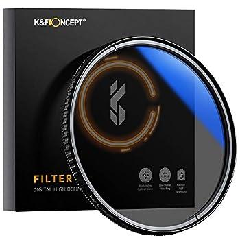 K&F Concept 72MM Circular Polarizer Glass Filter Ultra-Slim Multi Coated
