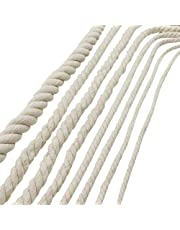 Katoenen touw, gevlochten touw, hangende mand macrame breien gevlochten touw voor tuinplanthanger, bloempot, hangende mand, plantenhouder muur opknoping DIY ambacht