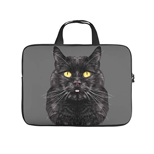 Cat Animal Laptop Case Bag Water-Resistant Briefcases for Notebook/MacBook/Ultrabook/Chromebook White 13 Zoll