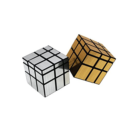 EasyGame 3x3x3 Mirror Speed Cube Puzzle Gold & Silver Collection