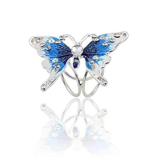 Bohemia mariposa broche bufanda hebilla ramo colorido rhinestone bufanda clip para las mujeres boho...