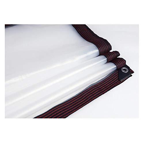 KUYUC Lona Transparente con Ojales, Impermeable Polietileno Lona de Protección para Invernadero a Prueba de Lluvia Toldos de Plantas, 120g/m² (Color : Clear, Size : 4x10m/13x33ft)