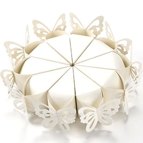 100boda partido favorece mariposa Pearly conos para la celebración de arroz, pétalos, confeti