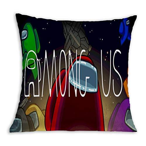 Innersloth - Funda de almohada con impresión 3D, funda de cojín decorativa para salón, dormitorio, sofá, silla, 45,7 x 45,7 cm