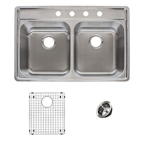 Franke EVDCG904-18KIT Sink Kit, 33' left-to-right x 22' front-to-back x 9' D, Stainless Steel