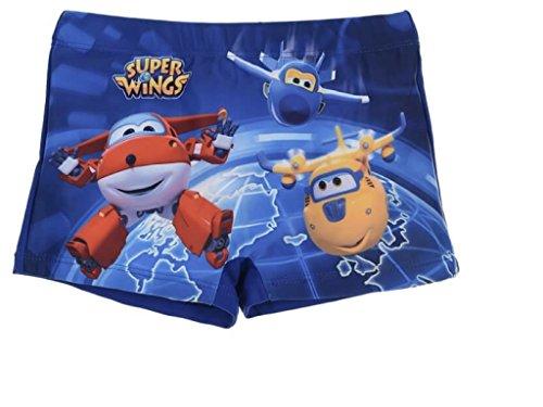 CARTOON WORLD Disfraz de playa y piscina Super Wings  Talla 4 aos Color Azul