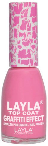Layla Cosmetics Top Coat Graffiti Nagellack, pink, 1er pack (1 x 0.01 L)
