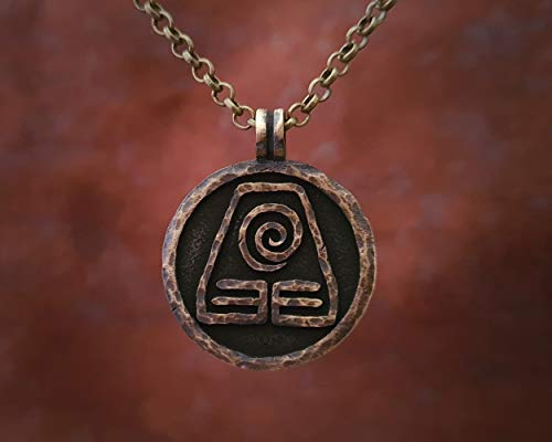 Avatar Last Airbender Jewelry Earth Element Necklace Pendant