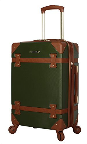 Rosetti Designer 20 Inch Carry On Luggage - Lightweight Expandable Hardside Suitcase - Wheels Made of 100% virgin PU Material - Small Vintage Bag with 4-Rolling Spinner Wheels (Leaf)