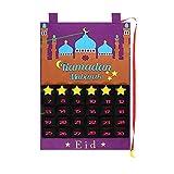 Milkvetch Calendario de RamadáN Eid Mubarak Calendario de Cuenta Regresiva Colgante Calendario de Adviento 2021 para NiiOs Regalos de Eid Decoraciones de RamadáN