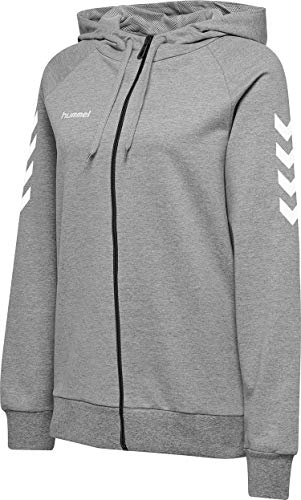 Hummel Female, Damen HMLGO Cotton Zip Hoodie Woman