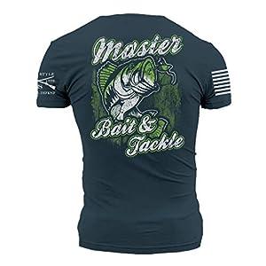 Grunt Style Bait + Tackle Men's T-Shirt, Color Indigo, Size X-Large