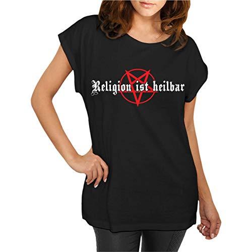 Frauen und Damen T-Shirt Religion ist heilbar Größe XS - 5XL