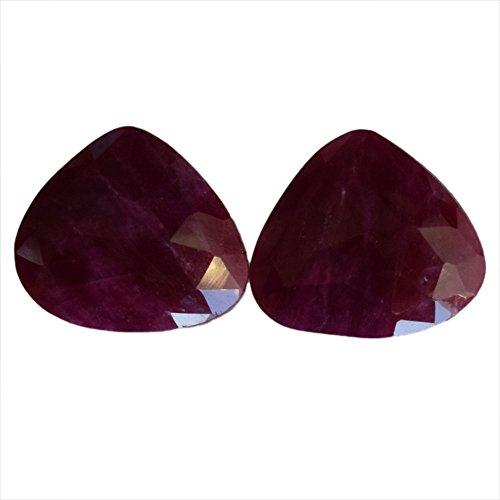 19 quilates rojo rubí natural tallado par cabujón, forma de pera, par pendientes, rubí proveedores, mejor precio AG-7749