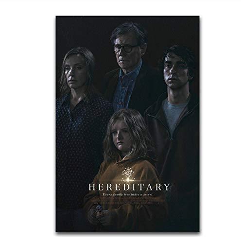 Hereditary Hot 2018 Horror Movie Film Terror 02 Poster Canvas Art Print Decoración Carteles e Impresiones Canvas Wall Art-20X28 Inch Sin Marco
