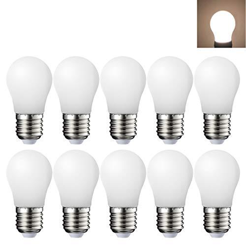 10er-Set LED E27 3W Warmweiß 2700 Kelvin,ersetzt 20W, 200 Lumen,360° Abstrahlwinkel, Nicht Dimmbar