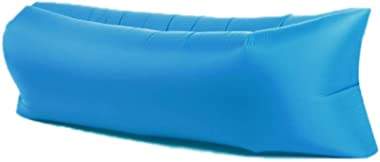 Joyshopping Super Light-Weight Outdoor Air Sofa Portable Couch Foldable Inflatable Bed Beach Sleeping Lounger Polyester Silve