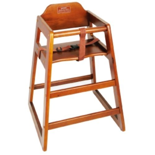 Great Price! Winco CHH-104 Unassembled Wooden High Chair, Walnut, SET OF 6