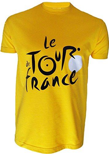 T-Shirt Der Tour de France Radfahren–offizielle Kollektion–Größe Erwachsene Herren M gelb