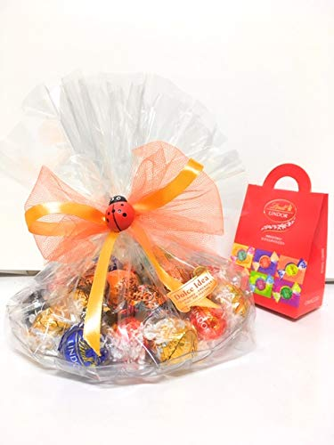 Confezione Regalo Lindt Con 25 Cioccolatini Lindor Assortiti E 25 Gr Lindor Omaggio