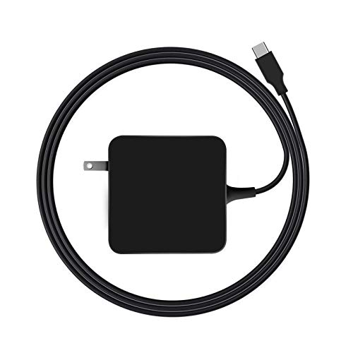 Replacement USB C Laptop Charger, 61/65W USB C Charger Power Adapter for MacBook Pro 13/12 Lenovo, ASUS, Acer, Dell, HP, Thinkpad and Any Other Laptops with The Type C