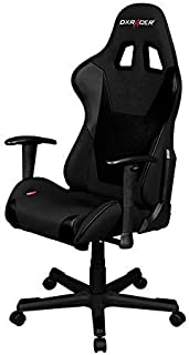 DXRacer DX Racer FD101/N Black Racing Bucket Seat Office Chair Gaming Ergonomic with Lumbar Support
