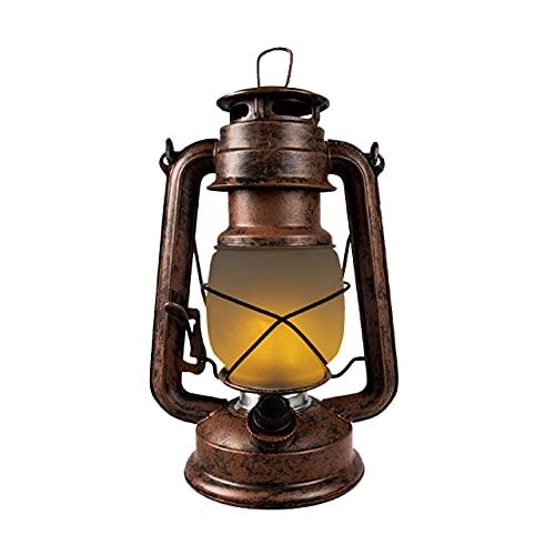 Farol LED vintage con efecto llama realista. Luz blanca cálida 2.200 K. Aluminio efecto...