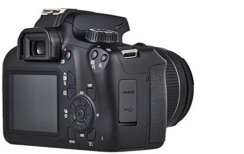 Canon EOS 4000D DSLR Kamera - mit Objektiv EF-S 18-55mm III Gehäuse Body (18 MP, DIGIC 4+, 6,8 cm (2,7 Zoll) LCD Display, EOS Movie Full-HD, CMOS-Sensor Canon APS-C, WiFi), schwarz