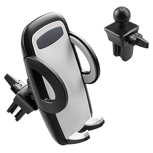 Car Holder Elegear Car Air Vent 360 Degree Holder Newest Phone Cradle Adjustable Car Cradle Compatible with iPhone 7 7 Plus 6 6s, Samsung, LG, Nexus, HTC, Motorola, Sony, Nokia and More - Black